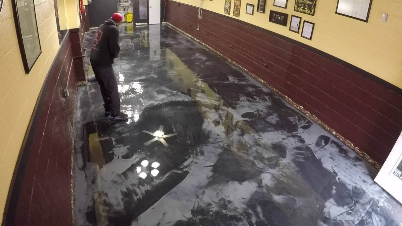 Metallic Epoxy Floor Coating Tutorial Over Vct Tile | Diy Metallic
