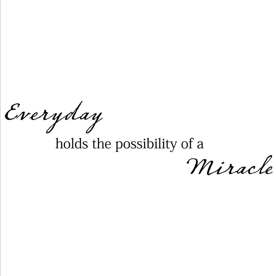 Holds The Possibility Of A Miracle