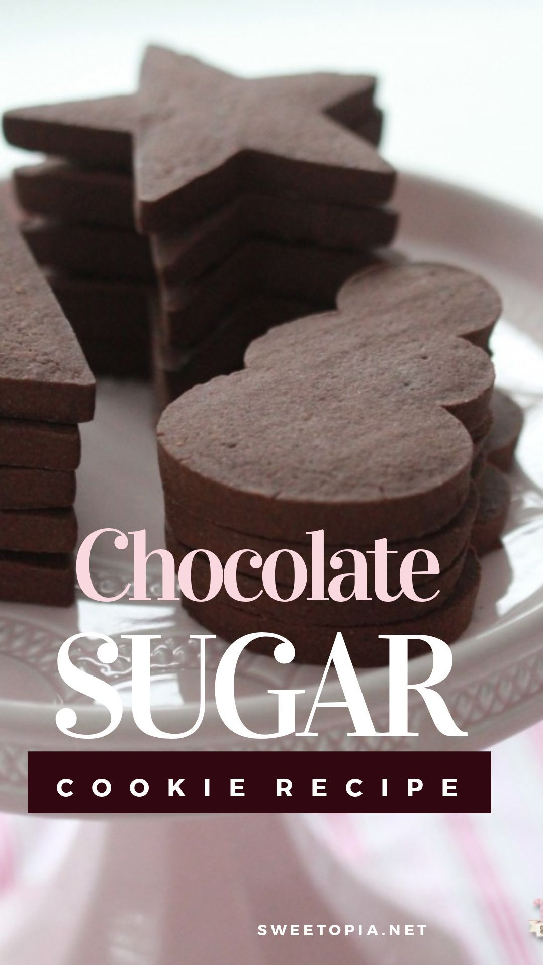 Chocolate Sugar Cookie Recipe #sugarcookies