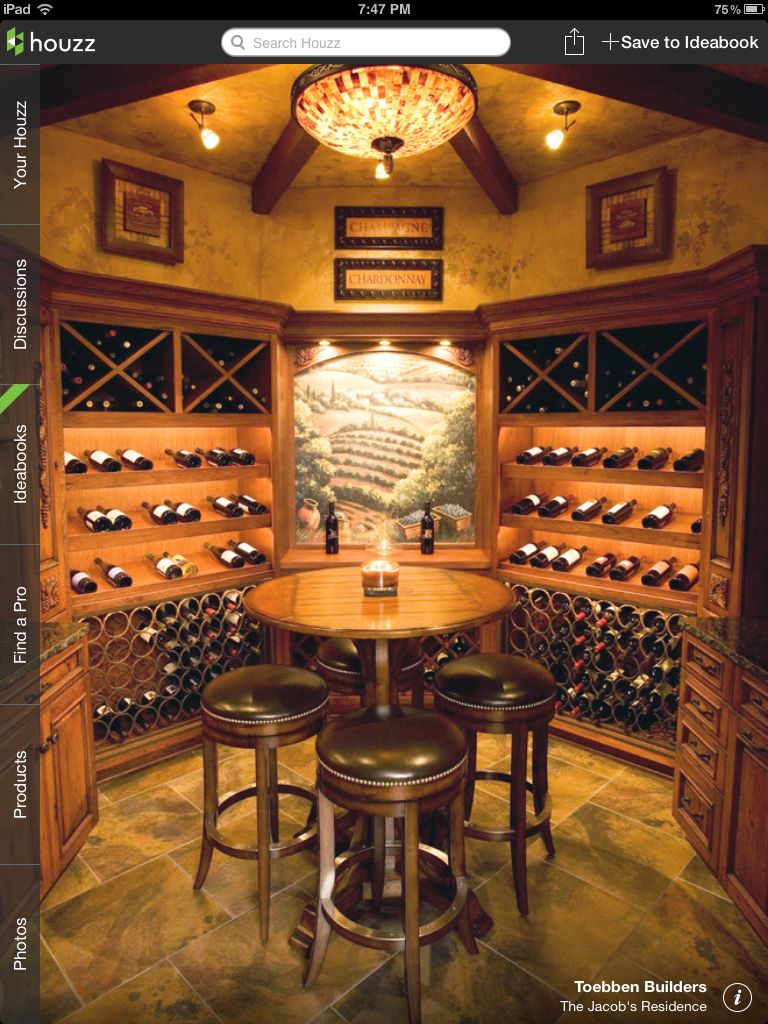 Amazing wine cellar