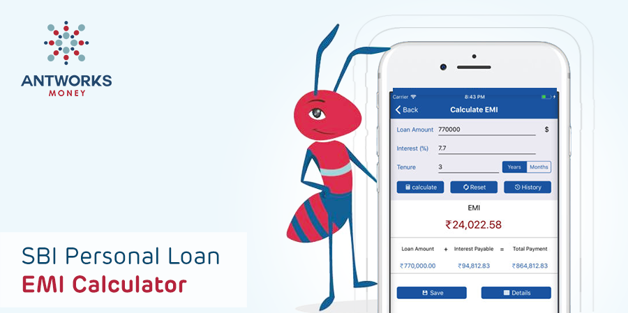 Sbi Personal Loan Emi Calculator Calculate Your Emi Equated Monthly Instalments For Home Loan Personal Loan Car Loan And B Personal Loans Easy Loans Loan
