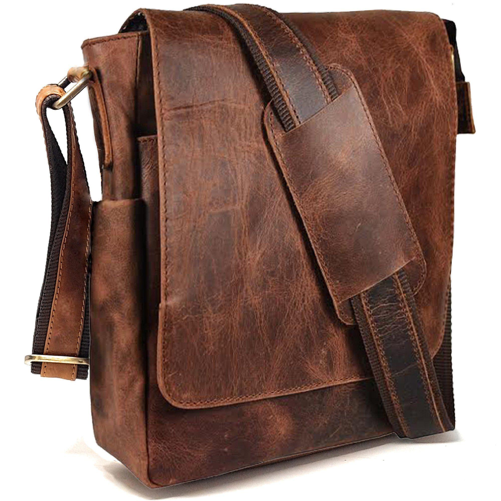 d65696fa0883 PURPLE RELIC  Tablet Man Bag ~ Sling Bag ~ Crossbody Messenger Satchel  (Vintage Brown)