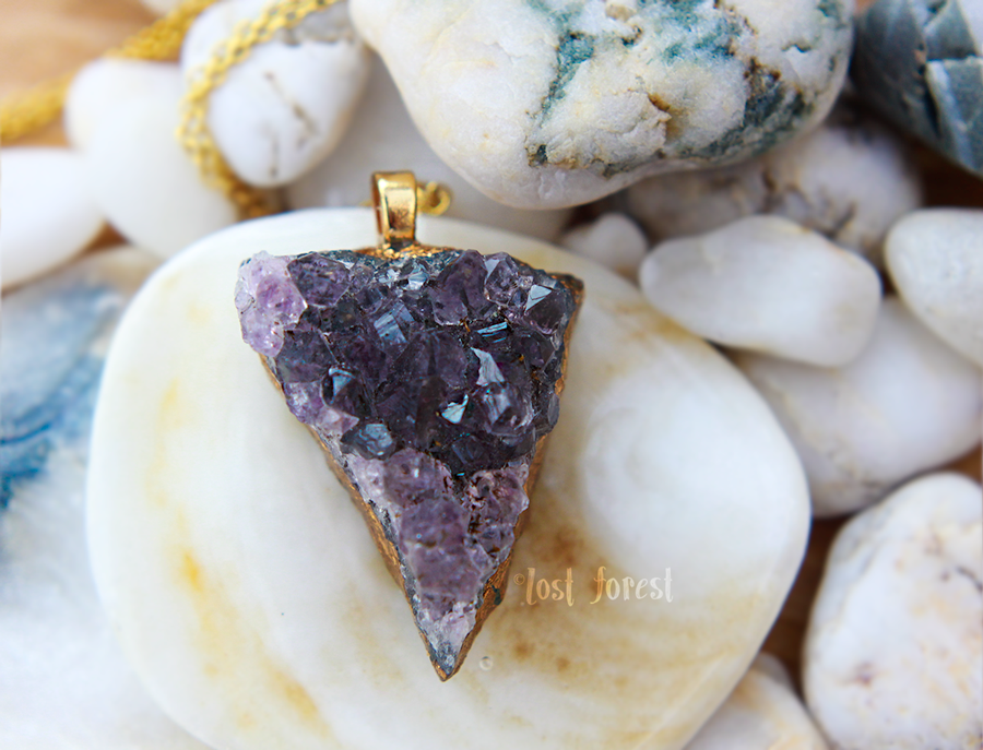 'My Inner Strength'- Amethyst Crystal Necklace. Lost Forest Jewellery: www.lost-forest.com