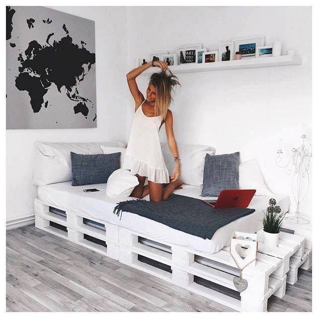 Pingl par waldemiro pereira sur sof cama pinterest - Chambre en palette ...