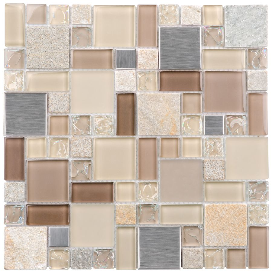 Mosaic Tile Apartment Ideas: Backsplash Mosaic In Pale Earth Tones