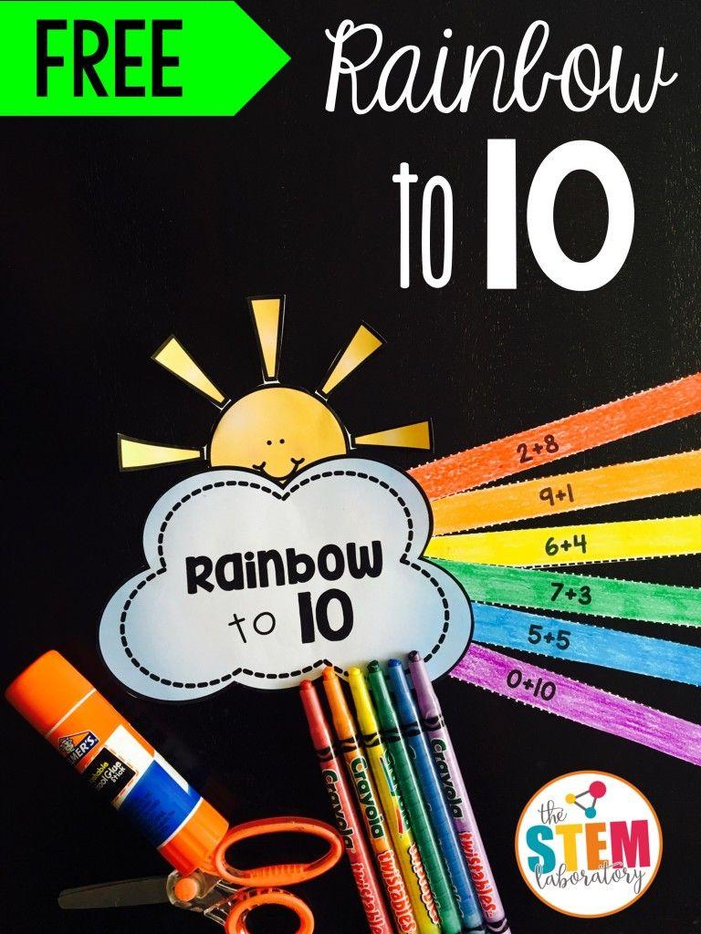 Rainbow To 10 Math Craftivity The Stem Laboratory Math Craftivity Math Crafts Kindergarten Math Activities [ 1024 x 768 Pixel ]