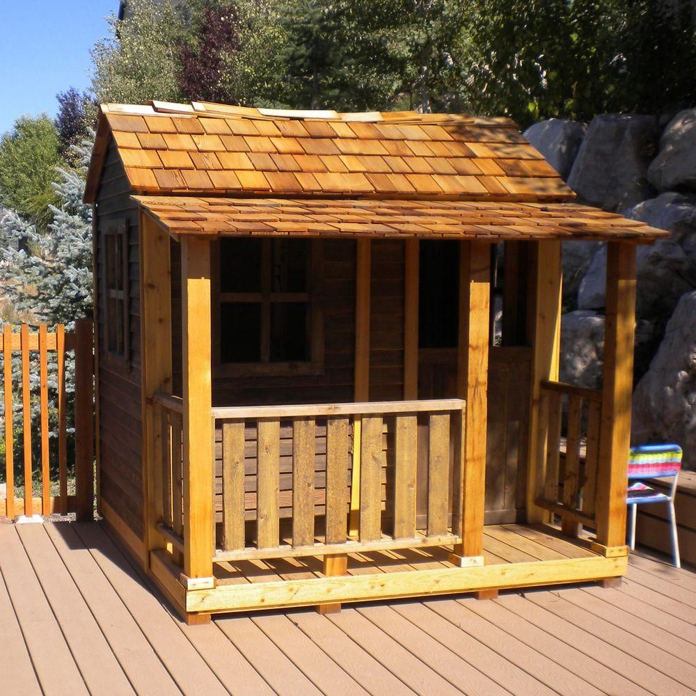 Outdoor living today 6 ft x 6 ft little squirt playhouse for Dutch playhouse