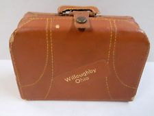 Vintage Miniature Travel Liquor Suitcase 4 X3 Willoughby Ohio