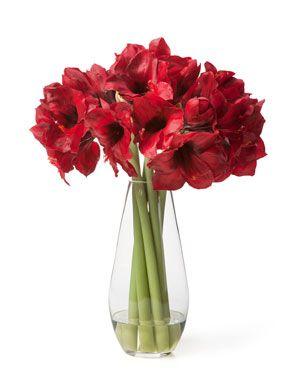 Amaryllis Elegance Silk Flower Arrangement Red Artificial Flower Arrangements Flower Arrangements Red Amaryllis Bouquet