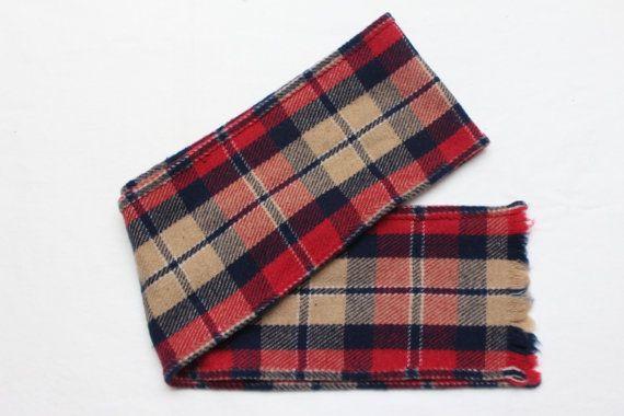 80's Vintage Plaid Pattern Multi Color Wool by TheStandoutTieShop