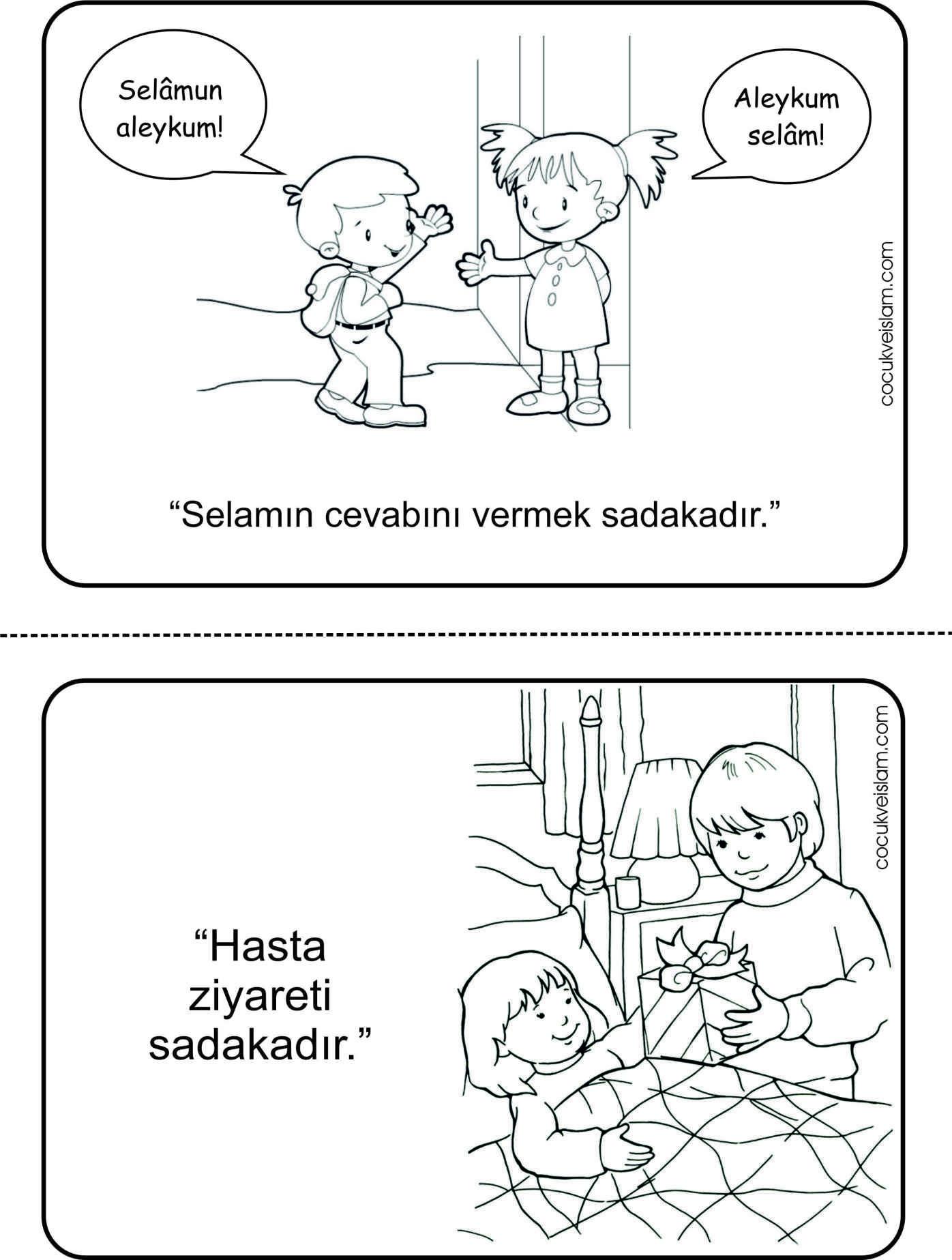 Sadaka 03 Faaliyet Boyama Kids Education Kindergarten Ve