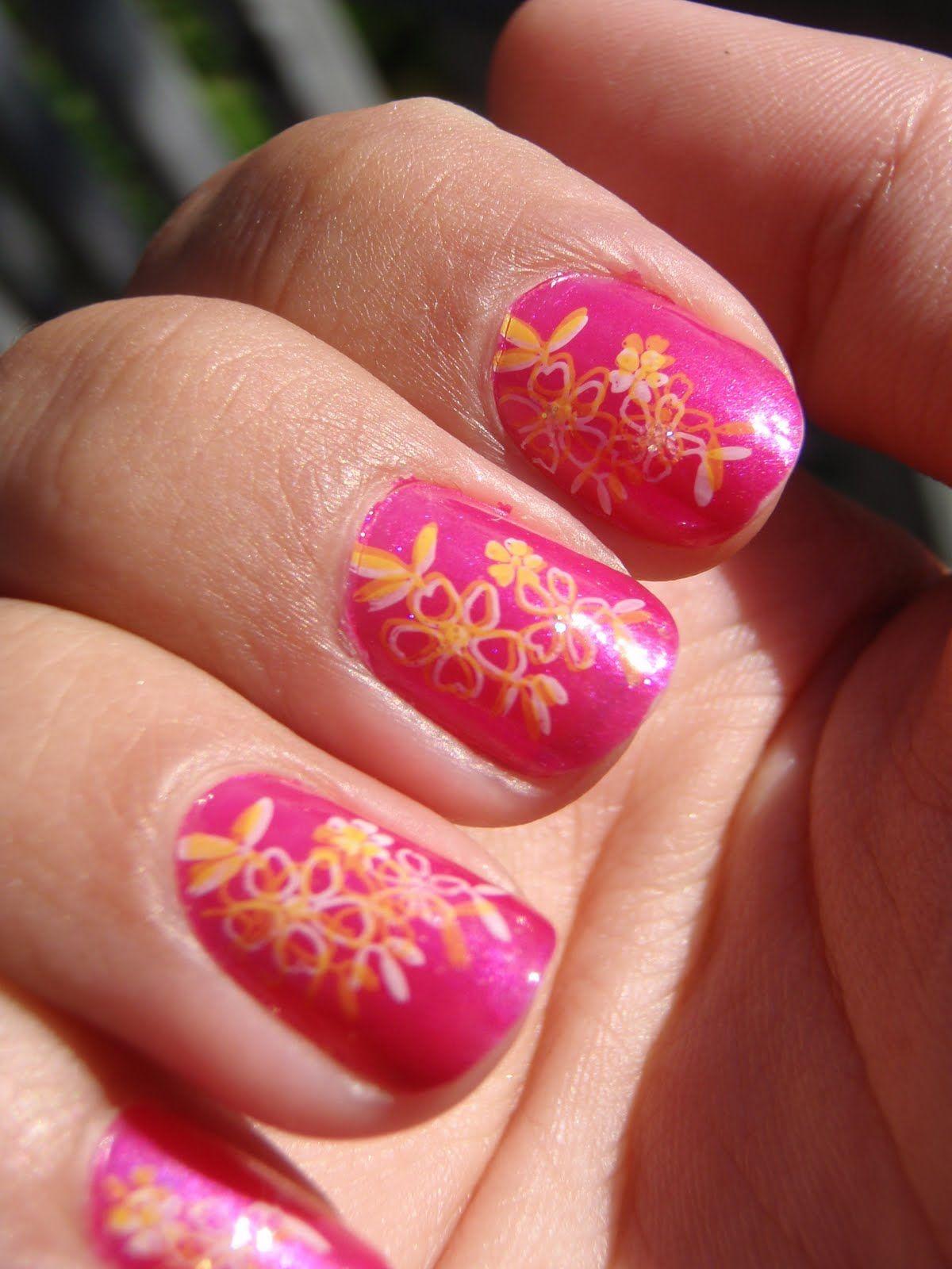 Nailhawaiianflowers nail junkie hawaiian pink flowers review nailhawaiianflowers nail junkie hawaiian pink flowers review izmirmasajfo