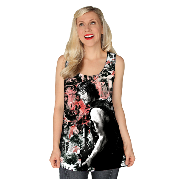 Fans of Daryl Dixon will love this Walking Dead Daryl Graffiti Tank Top, featuring everybody's favorite crossbow-wielding survivor and a wall of walkers. Guys and gals that have been dead for a while but are still up and moving