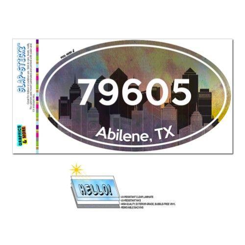 79605 Abilene Tx City Oval Zip Code Sticker