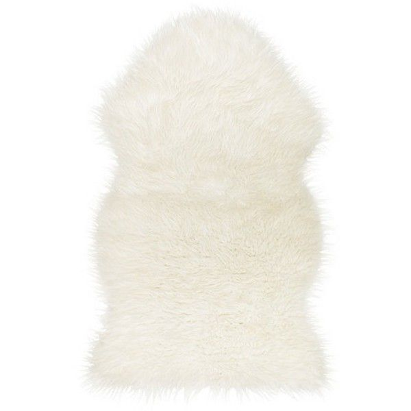 Ikea 302.290.77 Tejn faux sheepskin, white (€62) ❤ liked on Polyvore featuring home, children's room and children's bedding