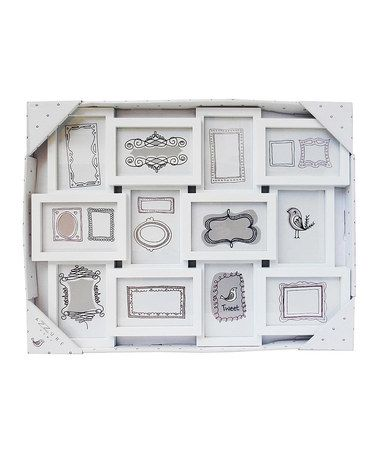 Another great find on #zulily! White 12-Photo Collage Frame ...