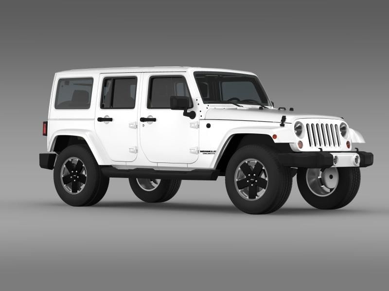 Jeep Wrangler Unlimited Altitude 3d Model Jeep Wrangler Jeep