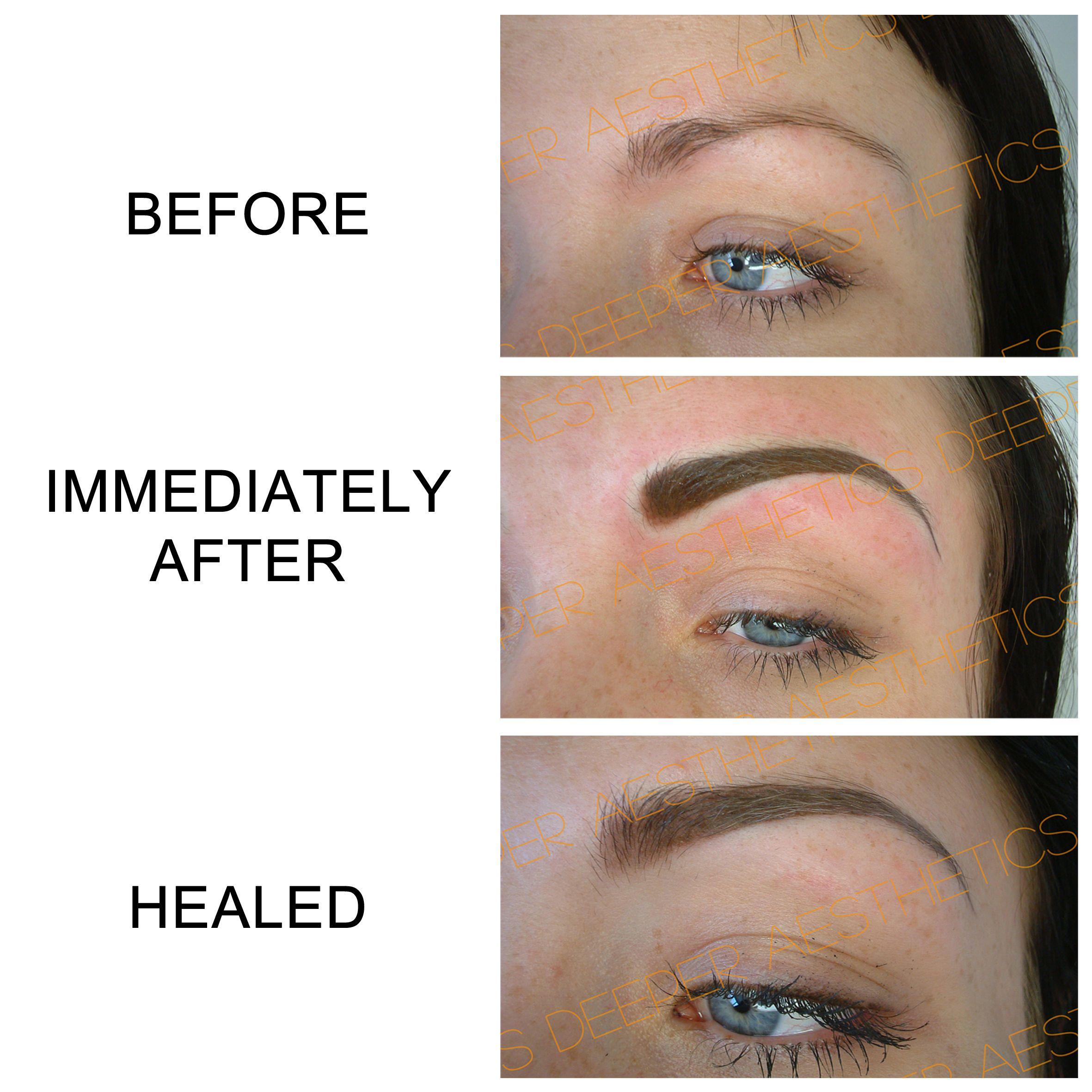 Semipermanent eyebrows. www.deeperaesthetics.co.uk