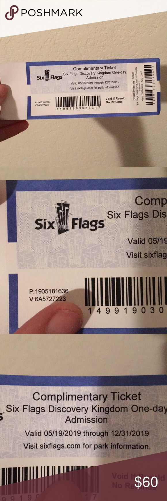 One Six Flags Discovery Kingdom Ticket One Day Admission Valid Until The End Of 2019 Vallejo Ca Information On The Park On Sixflag Six Flags Discovery Kingdom