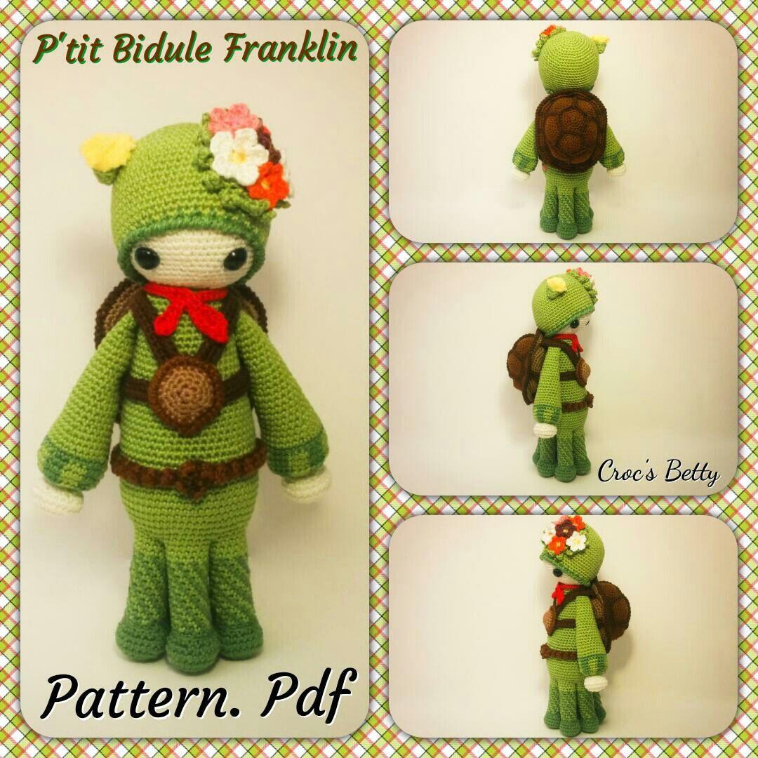 New little boy in P'tit Bidule 's family : Franklin little Boyscout Turtle is now available ^^