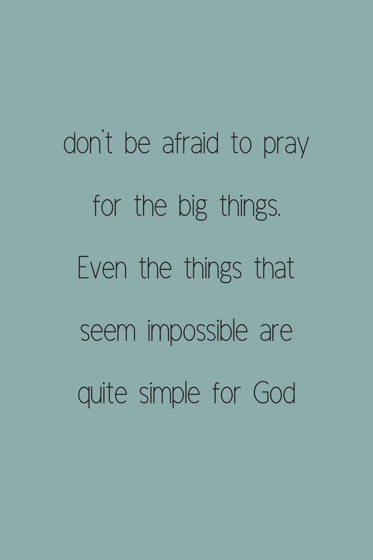 How to Pray Big When You Feel Small | Christian walk | Faith