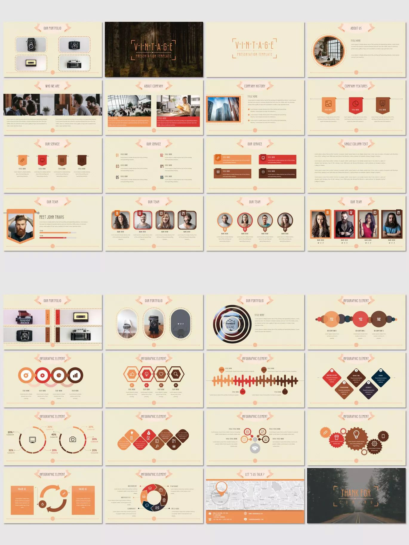 Vintage Powerpoint Template By Inspirasign On Envato Elements Keynote Template Presentation Design Template Powerpoint Presentation Templates
