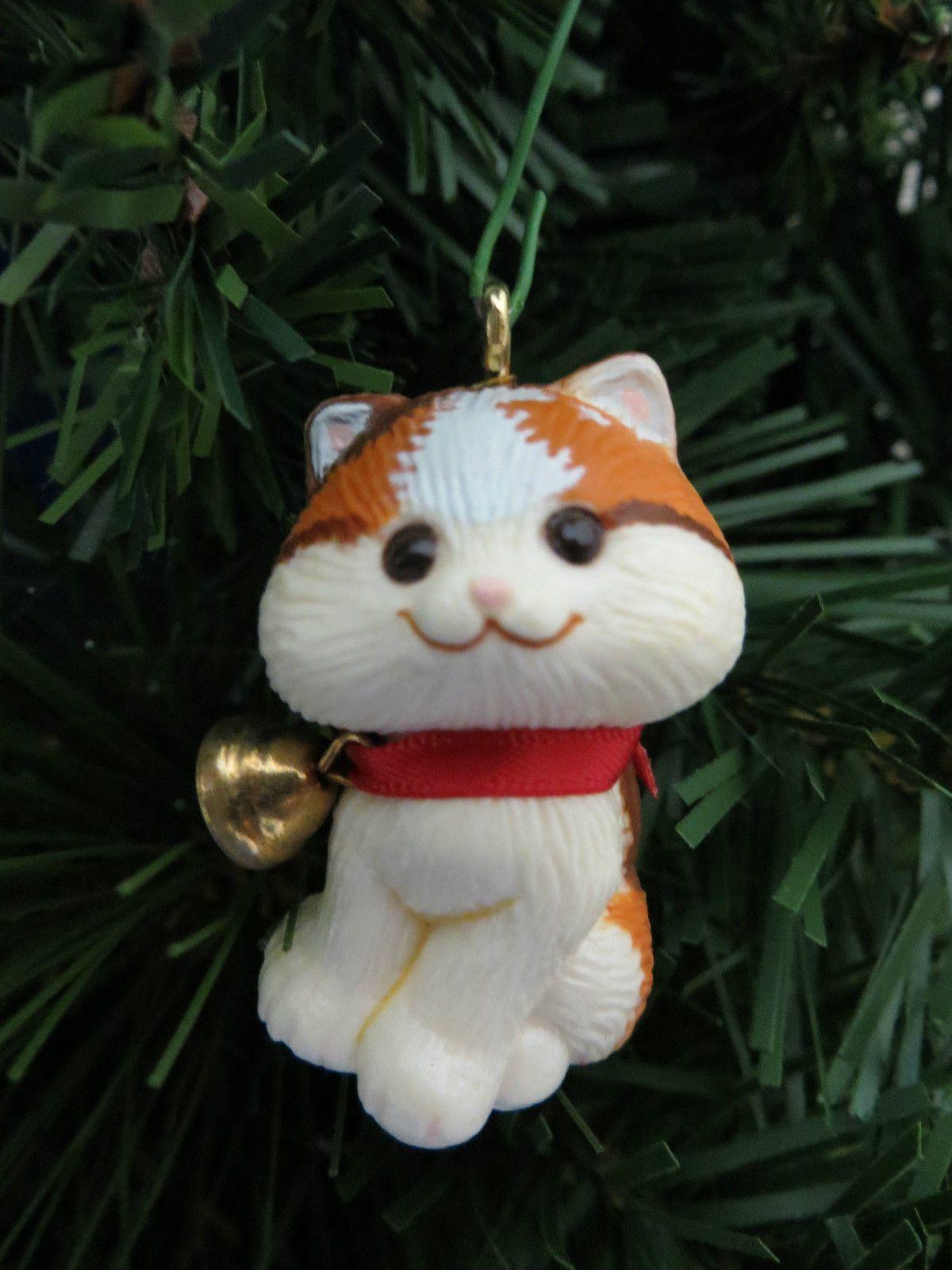 Hallmark Christmas Kitten Little Trimmers Ornament 1982 Qx4543 Cat Animal Ebay Christmas Kitten Cat Christmas Ornaments Hallmark Christmas