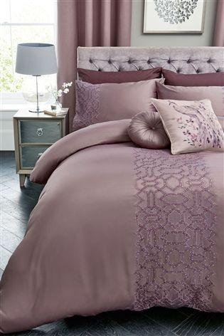 Buy Sequin Geo Mauve Bed Set From The Next Uk Online Shop Luxurious Bedrooms Glamourous Bedroom Bedding Sets Uk