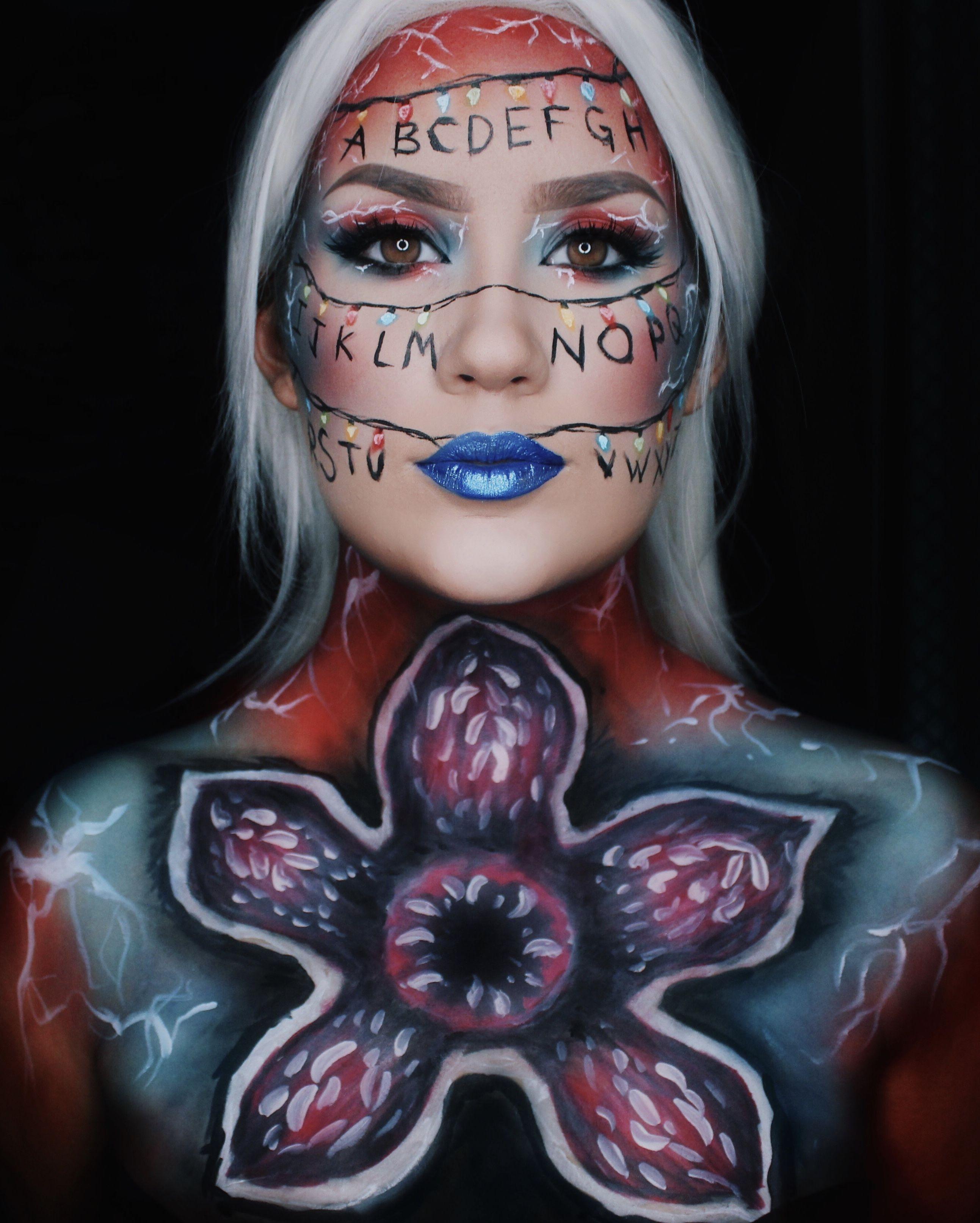 strangerthings stranger things inspired makeup Saç ve