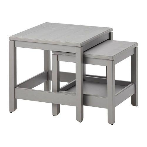Side Table Van Ikea.Havsta Bijzettafel Set Van 2 Grijs Keuken2018 Nesting