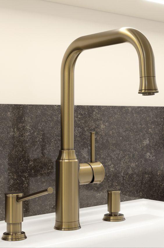 Armatur in Messing für die Golden 20ies Art Deco Küche Golden - nostalgie armaturen küche