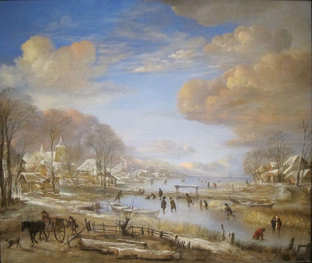 Aert van der Neer - Winterlandschap