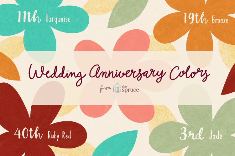 A Complete Guide to Wedding Anniversary Colors 50th