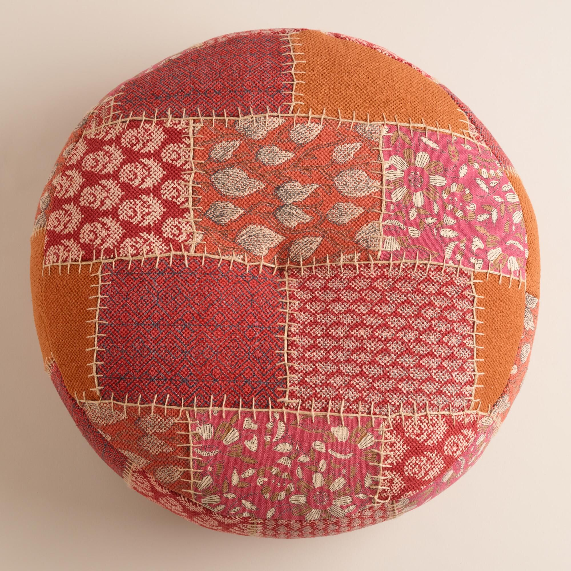 Hand stitched in india of cotton thread reclaimed from saris