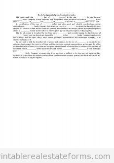Deed Of Assignment Of Ground Leasehold To Vendee With Images