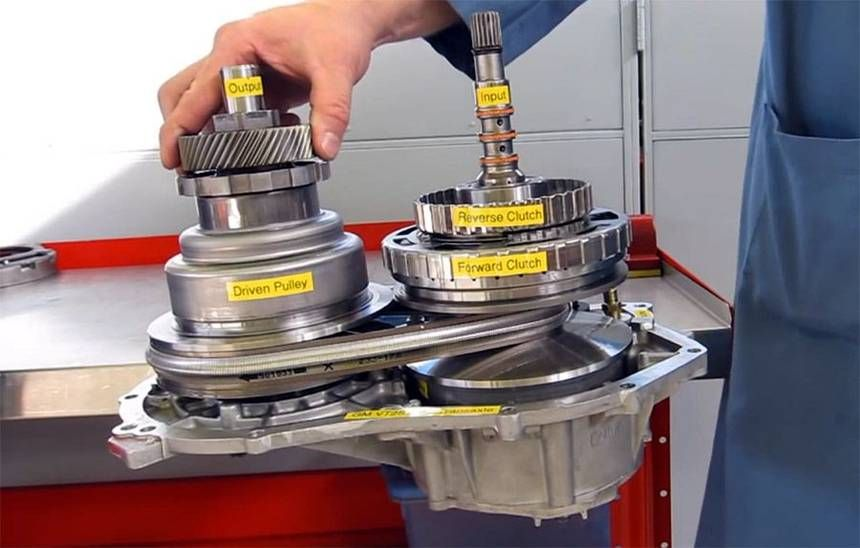 How does a fuelsaving CVT transmission work? Automatic