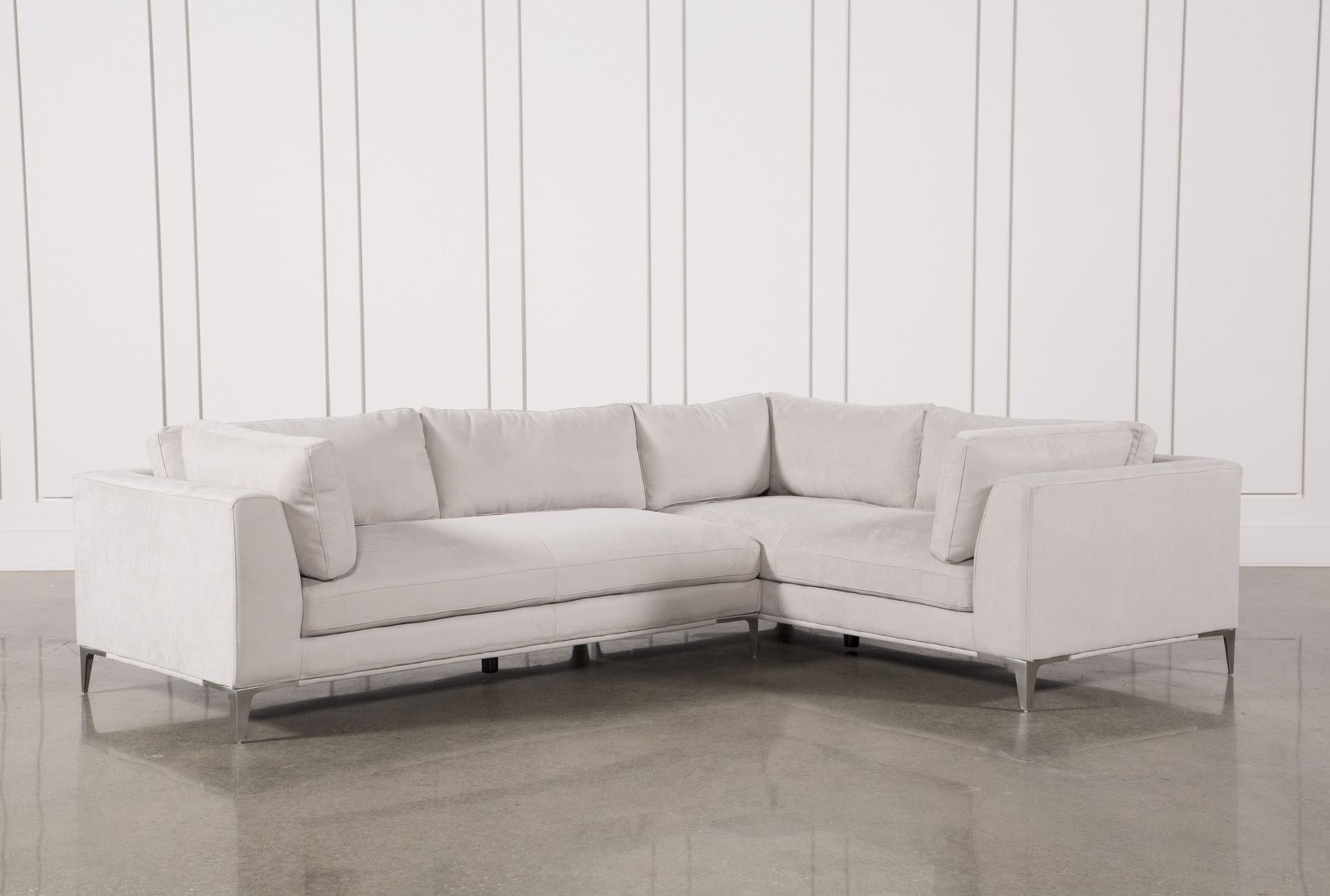Apollo Light Grey 2 Piece Sectional Signature Sectional Sectional Sofa Warm Modern