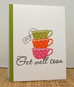 Get well soon card, klosetkreations.blogspot.com