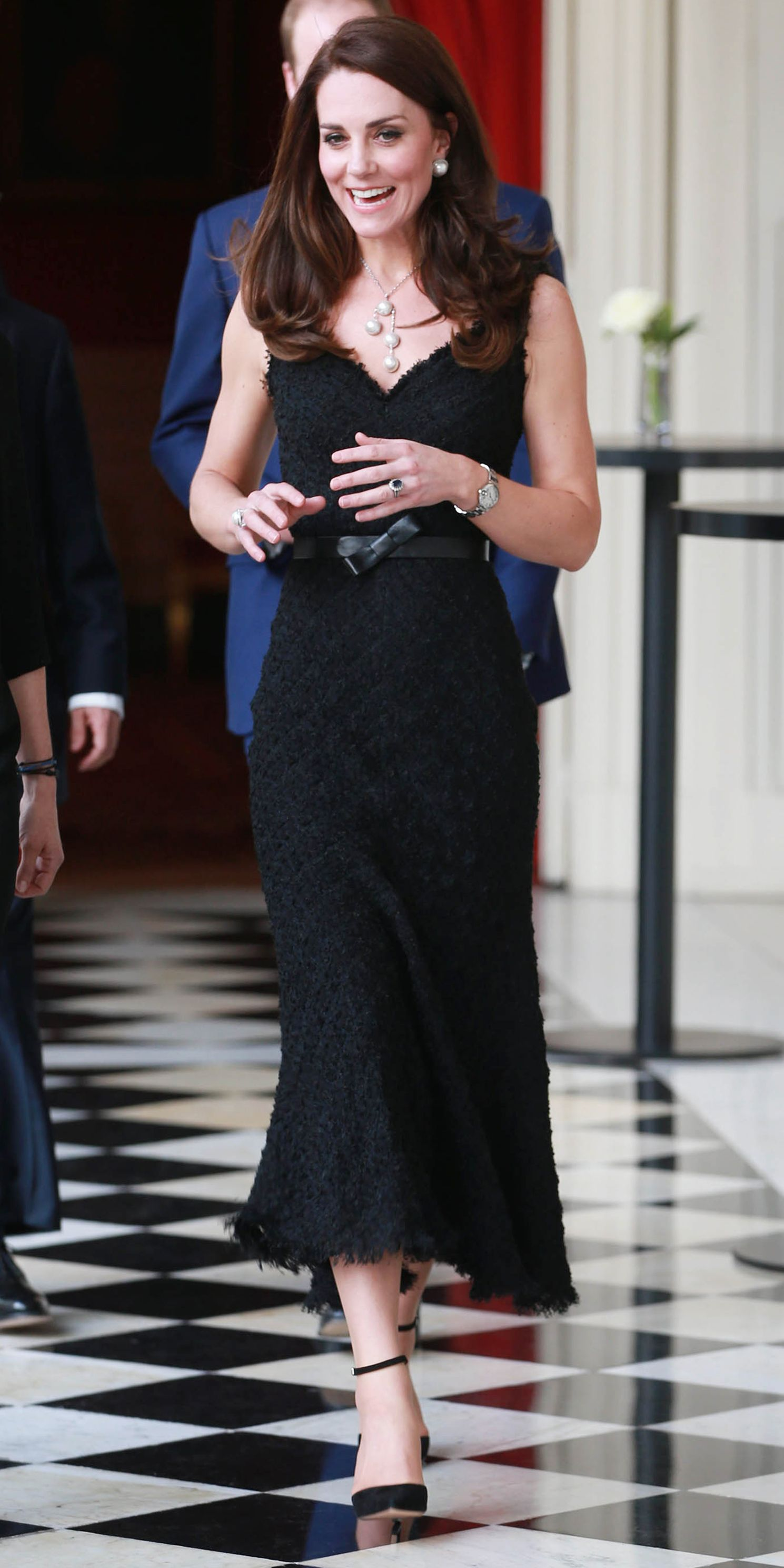 b4362d0bbf6b Kate Middleton's Most Memorable Outfits - March 17, 2017 from InStyle.com  Middleton stunned at a gala in Paris in a textured, mermaid-cut black  Alexander ...