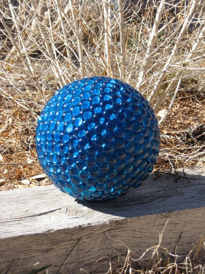 A bowling ball + some glass discs + clear silicone exterior