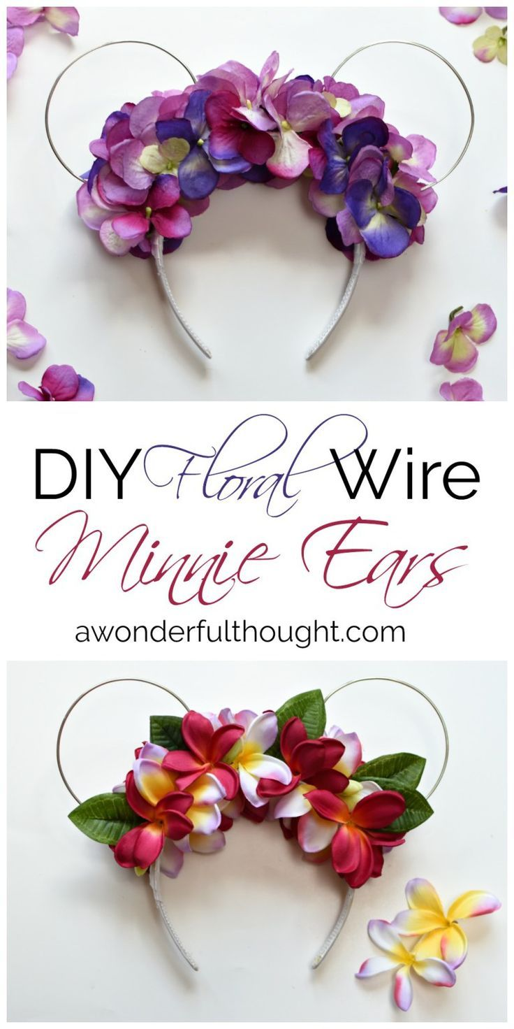 DIY Floral Wire Minnie Ears - A Wonderful Thought