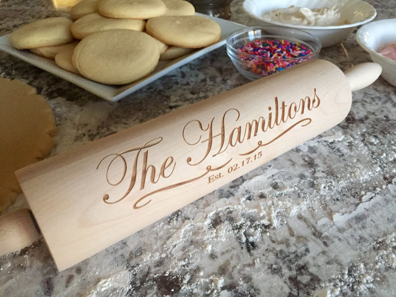 Personalized Rolling Pins - Hamilton Style #Etsy #Favorite #EtsyFav #Share #EtsyShop Shared by #BaliTribalJewelry http://etsy.me/1sDZ302