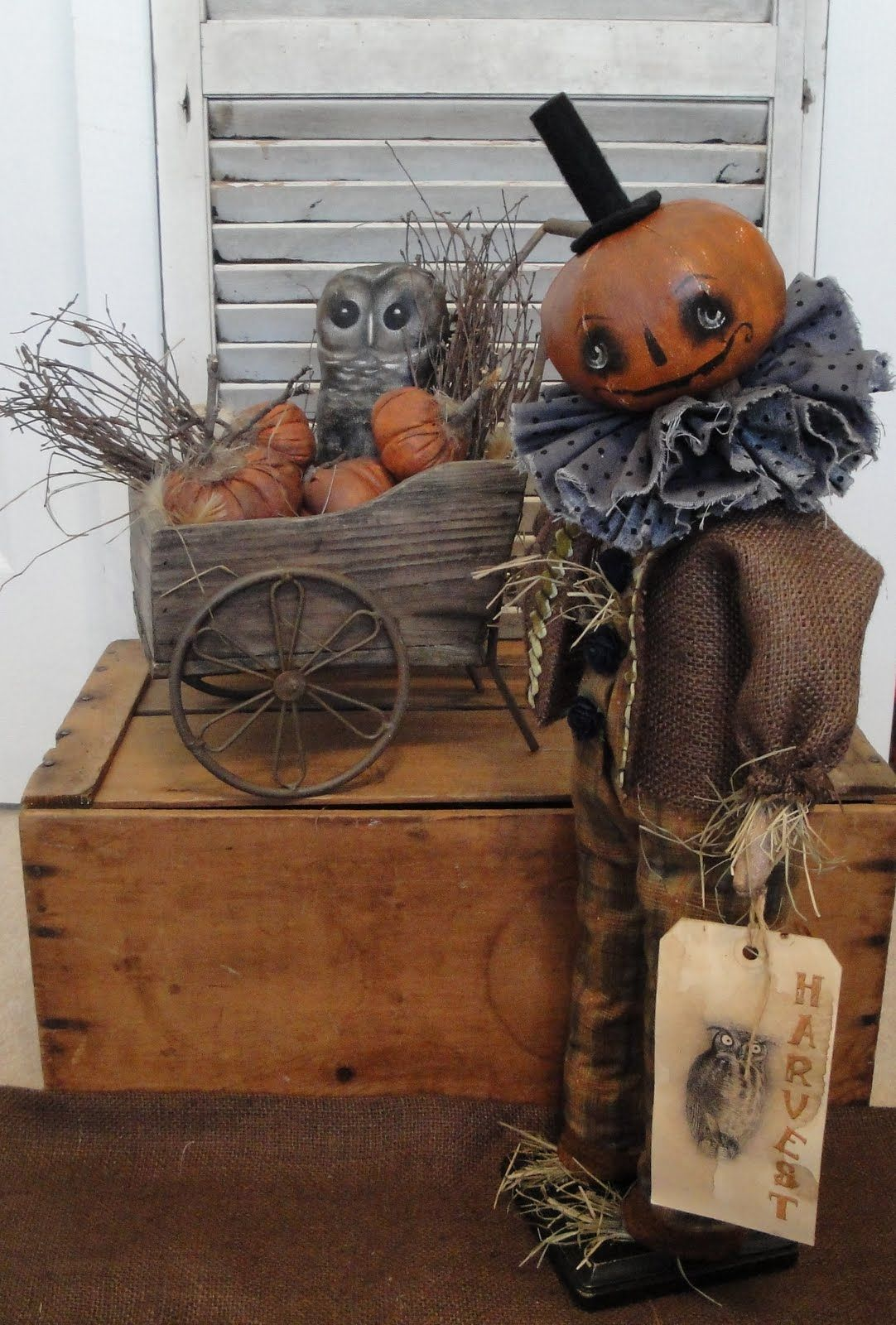 by Brenda Jett Sanker of The Vintage Polka Dot fall,all Hallows - Primitive Halloween Decor