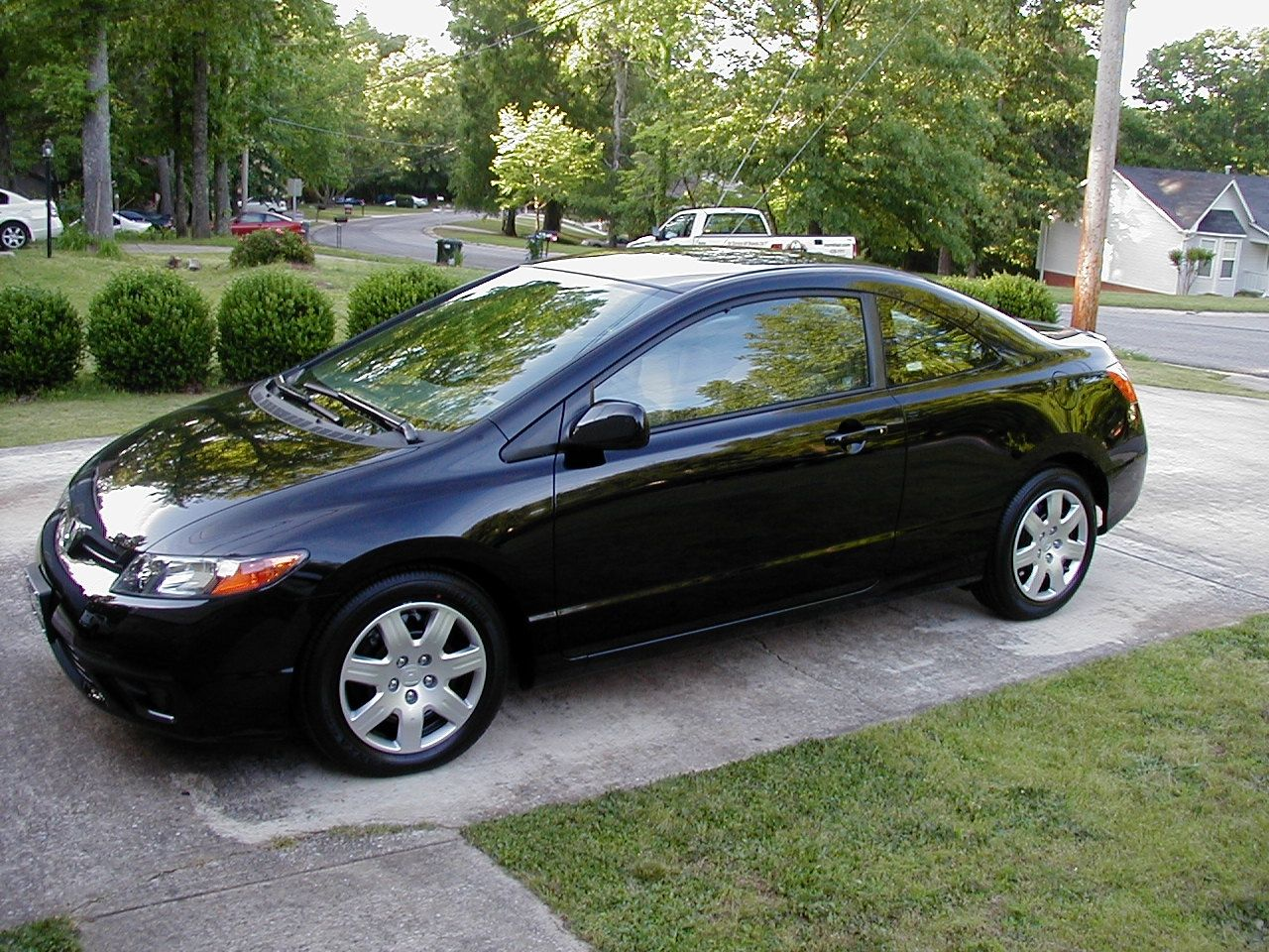 2008 Honda Civic Coupe . Black