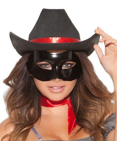 Black Cowgirl Costume Hat - Women by Elegant Moments #zulily #zulilyfinds
