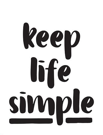 Inspiring Print Digital File Keep Life Simple Quote Print Typography Prints Wall Decor Inspirational Wall Art Keep Life Simple Simple Quotes Minimal Quotes