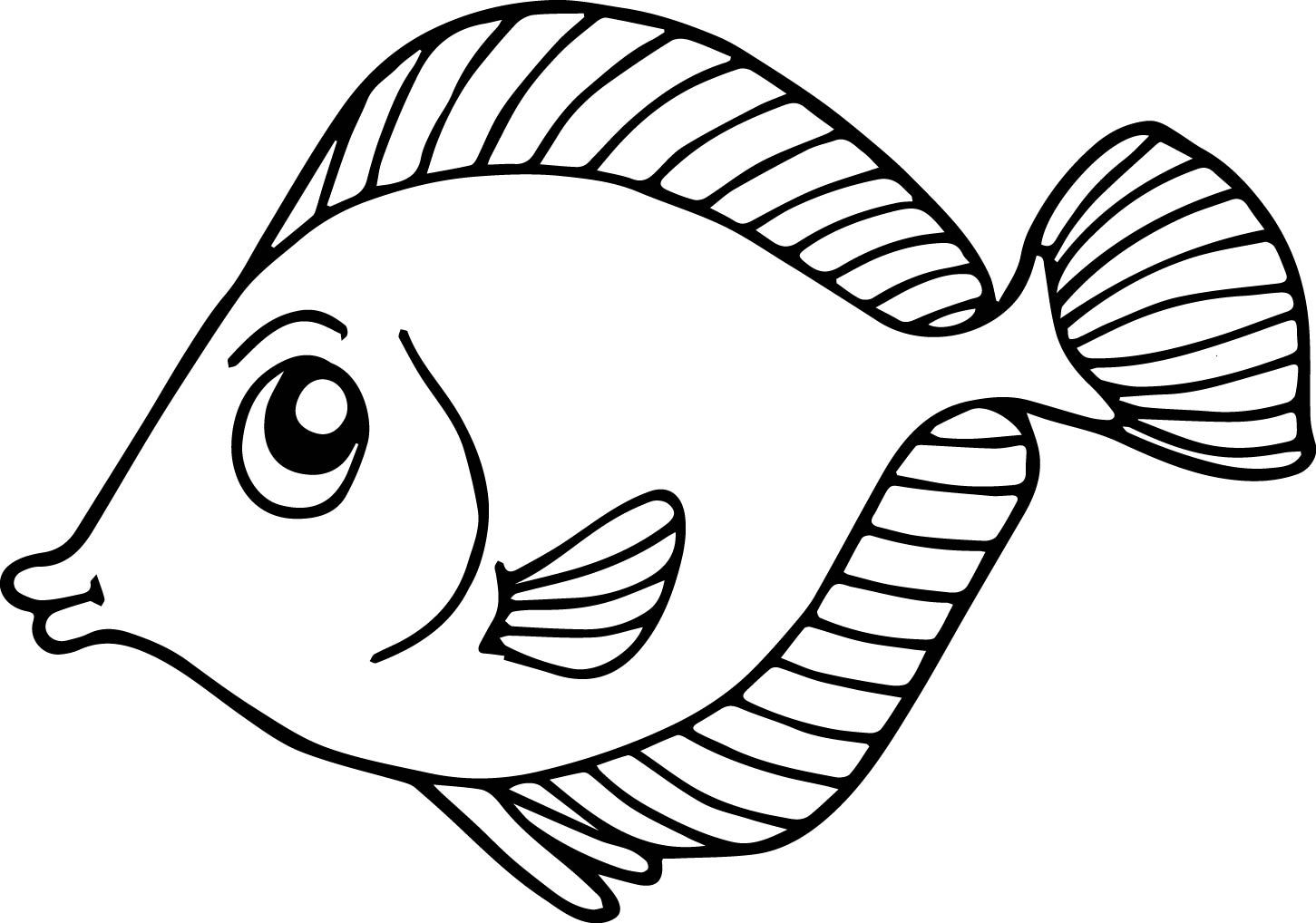 Fish Coloring Pages For Kids Preschool And Kindergarten Animal Coloring Pages Preschool Coloring Pages Fish Coloring Page