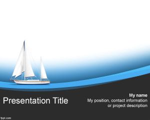 Free sailing boat powerpoint template with curves and sailing boat free sailing boat powerpoint template with curves and sailing boat illustration toneelgroepblik Choice Image