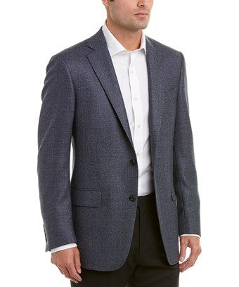 Hart Schaffner Marx Mens Wool Blend Coat 50L Blue