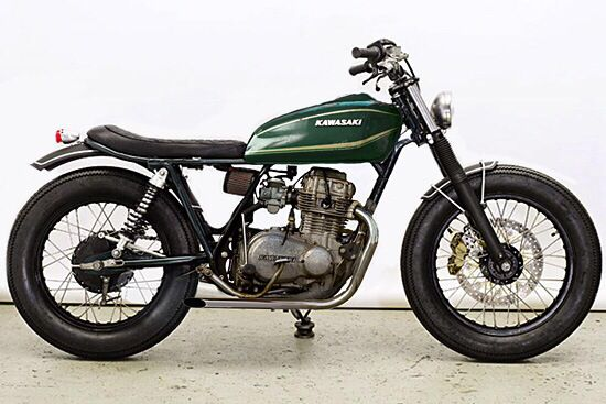 1977 kawasaki kz400 cafe racer   bikes   pinterest   cafes